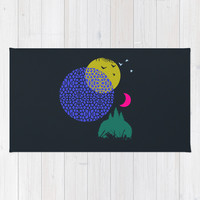 Night Planet Area & Throw Rug by Amelia Senville | Society6