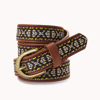 Out West Faux Leather Belt