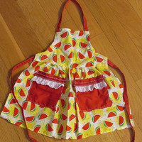Cute Little Girl's Apron with Watermelons Playtime!