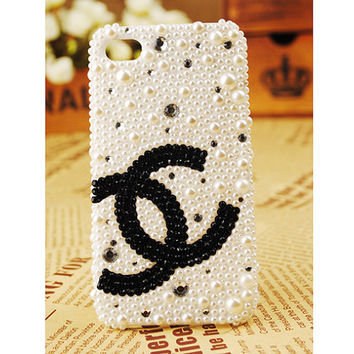 Apple iPhone 4S 4G Pearl Popular Brand Crystals by bestphonecases