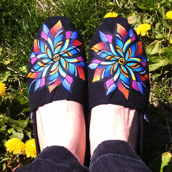 Kaleidoscope Flower Petals customizable hand-painted TOMS