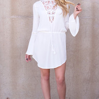 AGUAS BLANCAS Lace Dress- WHITE