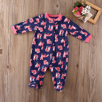 Cotton Newborn Infant Kids Baby Girl Boy  fox Long Sleeve  Romper Footies Jumpsuit Clothes Outfit