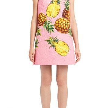 Dolce&Gabbana Pineapple Jacquard Shift Dress | Nordstrom