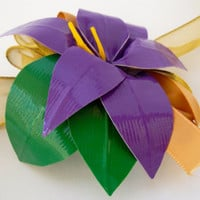 Duct Tape Wrist Corsage- Single Lily Corsage