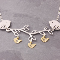 Family Necklace, 1 to 11 kids, mother necklace, three, triplets, mom necklace, mothers necklace, initial necklace, grandma necklace, N4-2