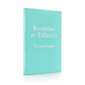 Tiffany & Co. -  Breakfast at Tiffany's by Truman Capote with Tiffany Blue® grain leather cover.
