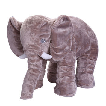 Baby Elephant Plush Toy Elephant Baby Pillow For Children Crib Foldable Kids Dolls Seat Cushion Babies Newborn Photography Props