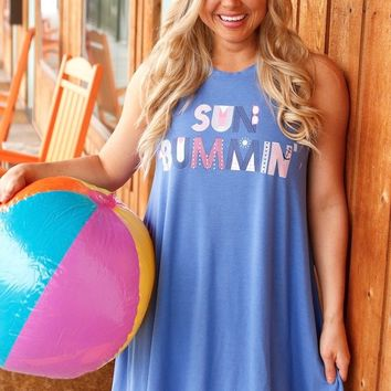 Jadelynn Brooke: Sun Bummin Swim Suit Cover Up {Poolside Blue}