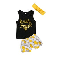 Freshly Squeezed Baby Kid Child Toddler Newborn Outfit Shirt & Pants
