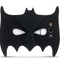 TRSASY(TM) 3D Batman Silicone Masks Glow in the Dark phones Case For Samsung Galaxy S3 SIII i9300 (Black)