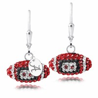 University of Alabama Swarovski Crystal Football Earrings. Free Shipping