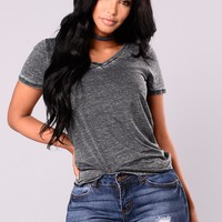 Jayla Short Sleeve Top - Black