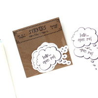 Envelope Stickers - Funny Hello Stickers by Yellow Daisy Paper Co.