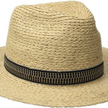 Brixton Men's Tyler Fedora Hat, Tan, Medium