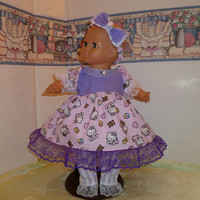 Bitty Baby / Bitty Sister Hello, Kitty Easter dress outfit