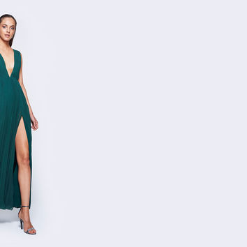 Forest Green Allegra Dress | Fame & Partners USA