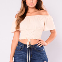 Julius Off Shoulder Top - Creme