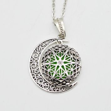 Moon Charm Diffuser Necklace