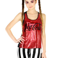 COLA SEQUIN TANK