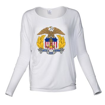 Official NCAA United States Merchant Marine Academy - PPUSMMA03 Women's Loose Pico Top