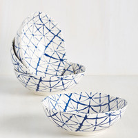 That's My Shibori, Sticking to It Bowl Set | Mod Retro Vintage Kitchen | ModCloth.com