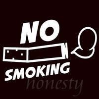 No Smoking JDM Window Door Wall Home Glass Car Sticker Auto Truck Laptop White Vinyl Decal Sticker Decor Gift 17.0cmX10.1cm