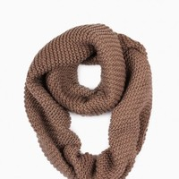 ALEX KNIT INFINITY SCARF IN TAUPE