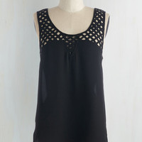 Vintage Inspired Mid-length Sleeveless Lattice Come With You Top by ModCloth
