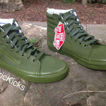 Custom Vans Sk8 Hi Canvas Skate Shoes