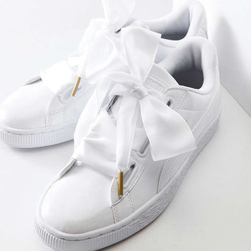 Puma Basket Heart Patent Leather Sneaker from Urban Outfitters
