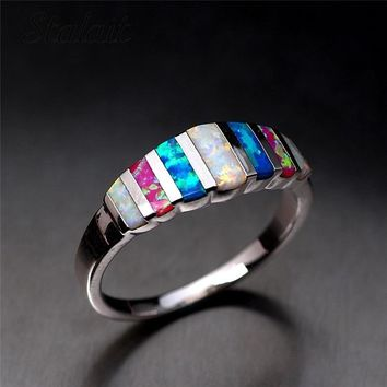 Colorful Simple Women Engagement Ring