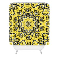 Lisa Argyropoulos Retroscopic In Lemon Shower Curtain