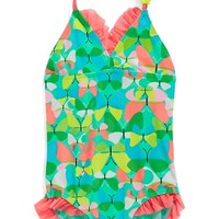 Girl's Hula Star 'Butterflies' One-Piece Swimsuit,