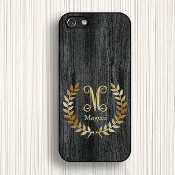 gray wooden printing iphone 4 case, monogrammed iphone 5c protector,iphone 5s cases,iphone 5 cover,iphone 4s cases d004