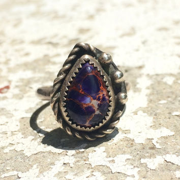 Sea Sediment Jasper and Sterling Silver Ring, Size 8