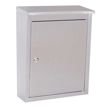 Architectural Mailboxes 2407PS Metropolis Stainless Steel with Satin Wall Mounted Mailbox