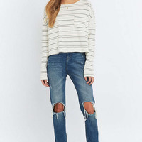 BDG Patch Pocket Striped Sloppy T-shirt - Urban Outfitters