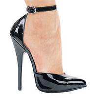 "6"" Heel Fetish Pump W/Ankle Strap."