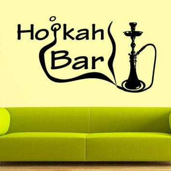Wall Decal Vinyl Sticker Decals Art Decor Design Hookah Bar Lounge Tobacco Smoke Mans Gift  Bedroom Modern Fashion Style(r885)