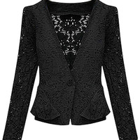 Black Silm Lace Blazer