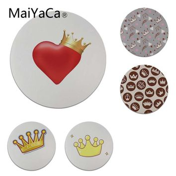 MaiYaCa 2018 New King Queen Laptop Computer Mousepad Size for 20x20cm 22x22cm Small Mousepad