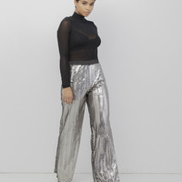 BOOGIE NIGHTS SEQUIN PANTS - SILVER