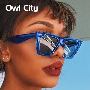 Owl City Cat Eye Women Sunglasses Brand Designer Retro Sunglass Man Vintage Female Eyewear UV400 Classic Sun Glasses Shades