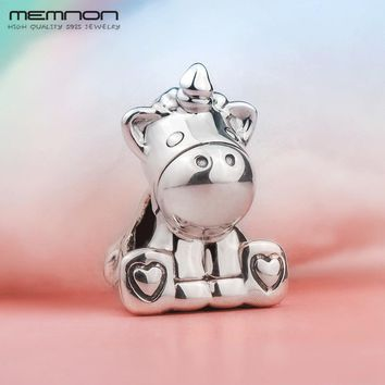 New 2018 autumn S925 Unicorn Charms 925 sterling Silver beads fit European charm Bracelet Necklace DIY for women Memnon Jewelry