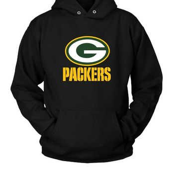 DCCKL83 Green Bay Packers Team Logo Hoodie Two Sided