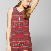 Coincidence & Chance Drapey Keyhole Romper - Urban Outfitters
