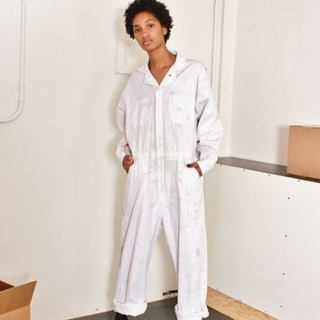 Distressed Workwear Jumpsuit / OS