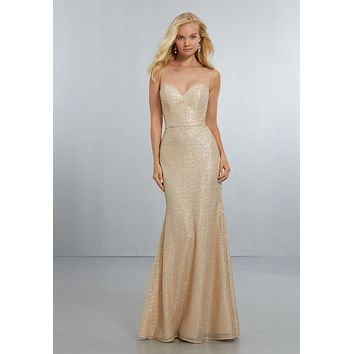 Morilee Bridesmaids 21560 Fit and Flare Sequin Bridesmaid Dress