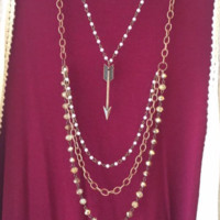 Pearl and Arrow Necklace
